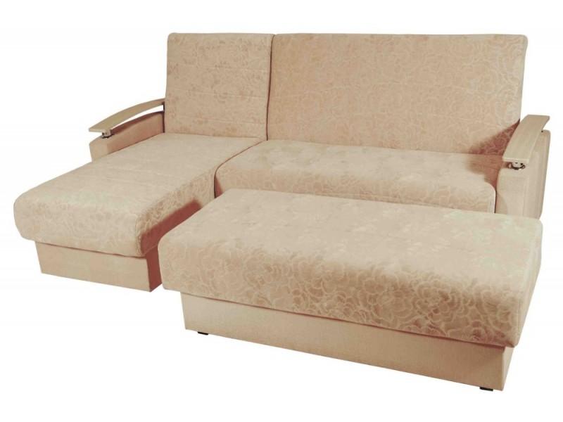 Угловой диван Гармония с пуфом