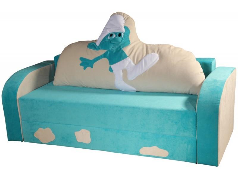 Детский диван Смурфик